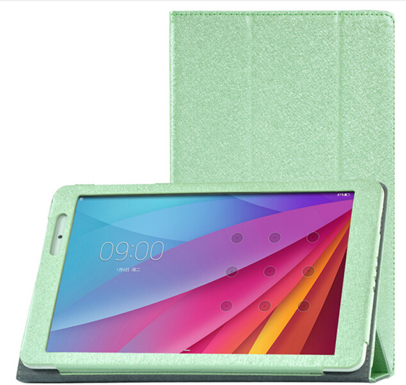 Nowe 3-folderowe luksusowe ultra-cienkie jedwabne wzory Folio Stand - Akcesoria do tabletów - Zdjęcie 4