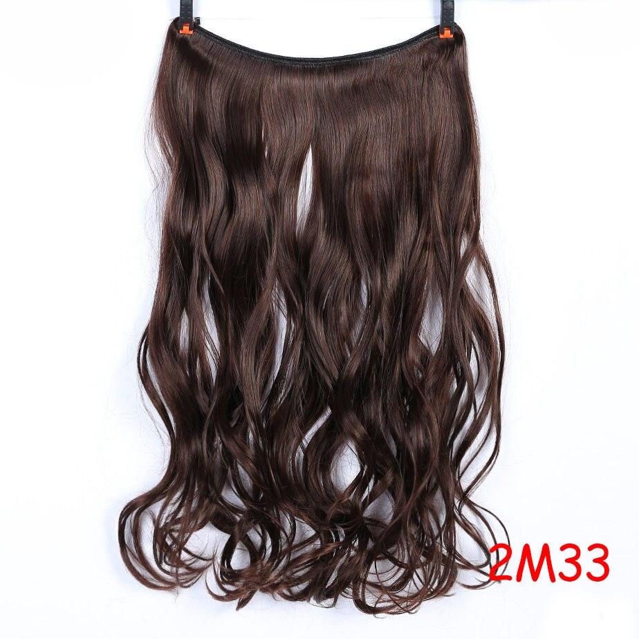 """SHANGKE 2"""" флип-на проволоке в синтетическом скрытом невидимом не клип в головном повязке прямые высокотемпературные волокна для наращивания волос - Цвет: #18"""