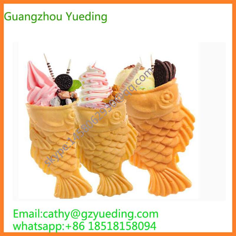 Digital timer of ice cream taiyaki waffle maker /fish open mouth taiyaki maker/fish taiyaki maker machine taiyaki maker with ice cream filling taiyaki machine for sale ice cream filling to fish shaped cake fish cake maker