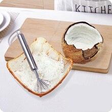 Vanzlife креативный кокосовый нож из нержавеющей стали, домашний кокосовый нож, Кокосовая терка, скребок для кокосового мяса, рыба, фрукты, строгание