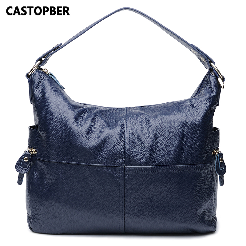 Large Capacity Shoulder Bag Handbag Designer Fashion First Layer Of Cowhide Genuine Leather Women Tote Bags Crossbody Ladies цена