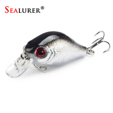 Sealurer Brand Quality Fishing Bait 5pcs Crankbaits Fishing Lure 5.5cm 8g Bass Lure Wobblers with Ball Inside Fly Fishing Tackle