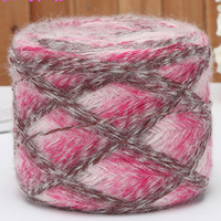 wholesale 1 balls/lot 100g natural soft thin Mohair Acrylic Blended yarn Mixed color for knitting Coat thread