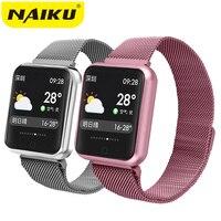 Sport IP68 Smart Uhr P68 fitness armband aktivität tracker heart rate monitor blutdruck für ios Android apple iPhone 6 7-in Smart Watches aus Verbraucherelektronik bei
