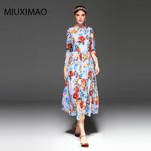 2018 Spring&Fall  Newest Cute Style Dress Long Sleeve Fashion Designer Runway Womens Elegant Women