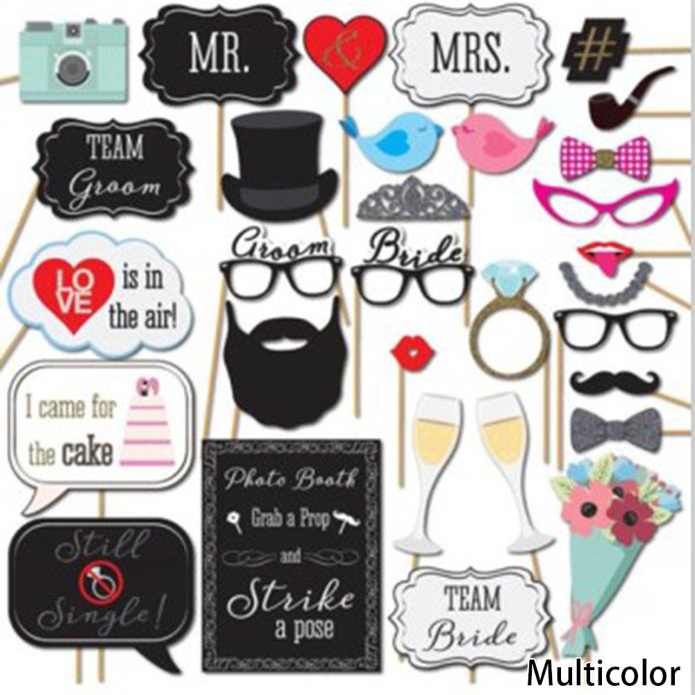 Creative Funny 31pcs DIY Paper Mustache Glasses Wedding Decoration Christmas Party Supplies Birthday Favors Photo Props(China)