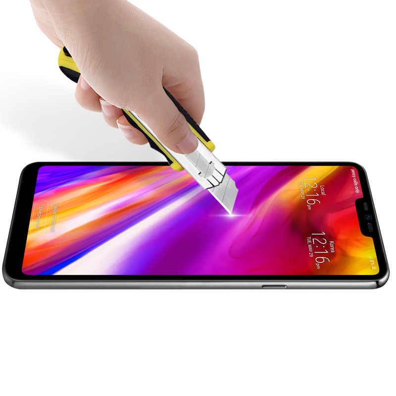2.5D full bao da bảo vệ cho LG G7 ThinQ kính cường lực cho LG G7 Mỏng Q G710EM G 7 + với dung lượng lưu trữ 128 GB màn hình bảo vệ