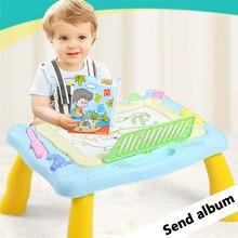 רב פונקציה מגנטי ציור לוח שולחן צעצועי שולחן סט Diy ציור כתיבה ילד בגיל הרך למידה צעצועי ילד