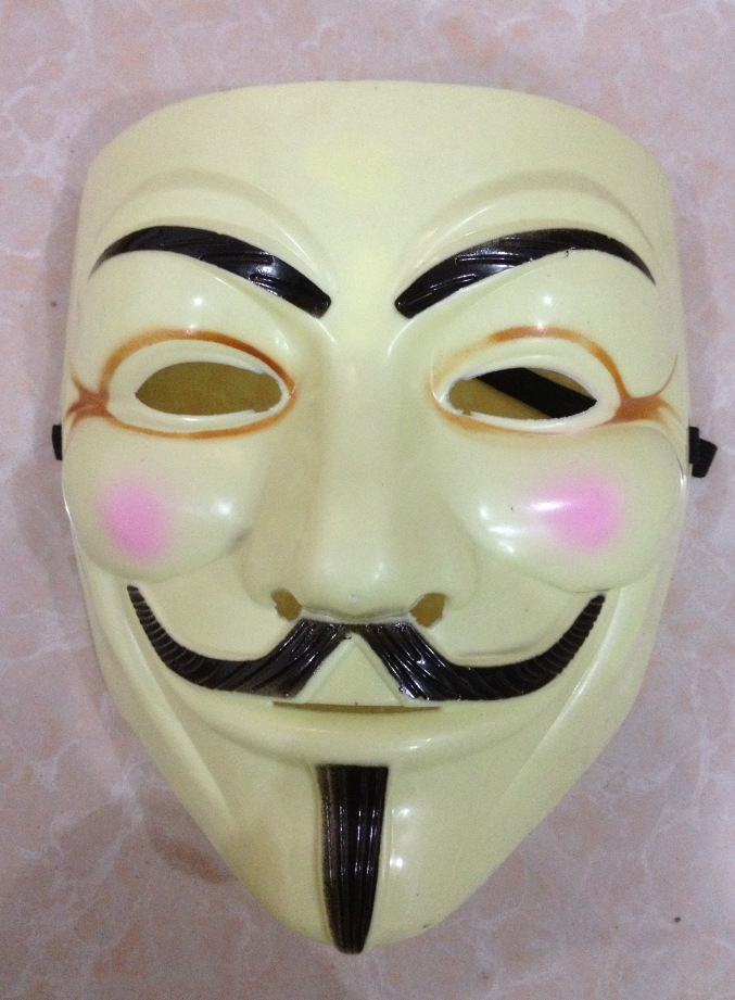 Anonymous V for Vendetta Guy Fawkes Fancy Dress Halloween Face Mask T9