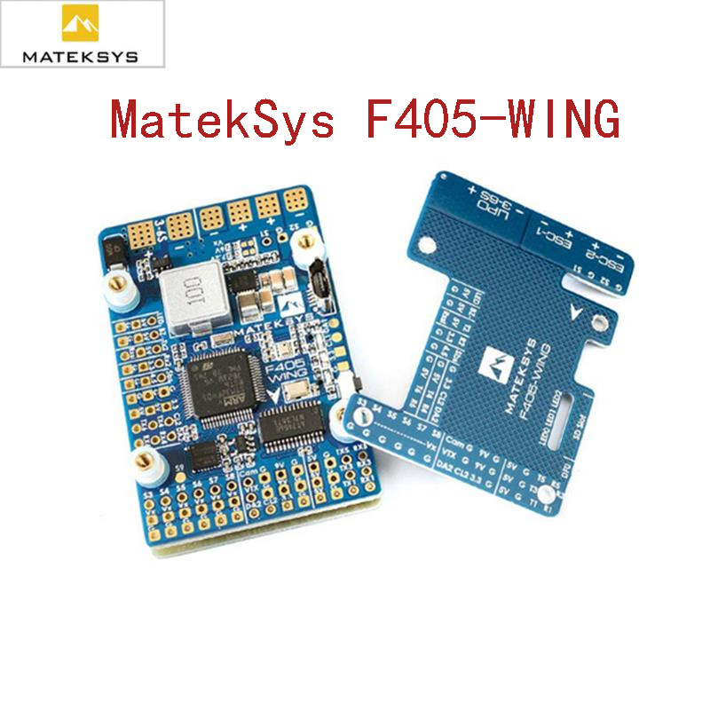 New Matek MatekSys F405 WING STM32F405 Flight Controller Control With INAVOSD MPU6000 BMP280 Support Fly Wing