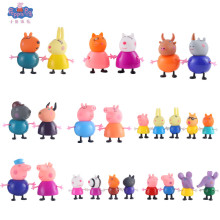 25pcs/Set Pink Pig Peppa Toys George Action Figure Pepa Original Pelucia Anime For Kids