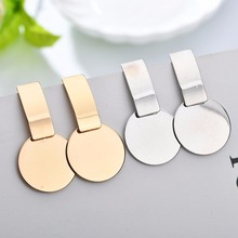 MESTILO New Fashion Geometric  Square Round Coin Earrings For Women Fashion Punk Gold Indian Long Drop Earrings Jewelry Brincos