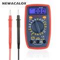 Электрический инструмент NEWACALOX цифровой ЖК-дисплей мультиметр AC/DC Амперметр Вольтметр Ом клещи Тестер инструмент
