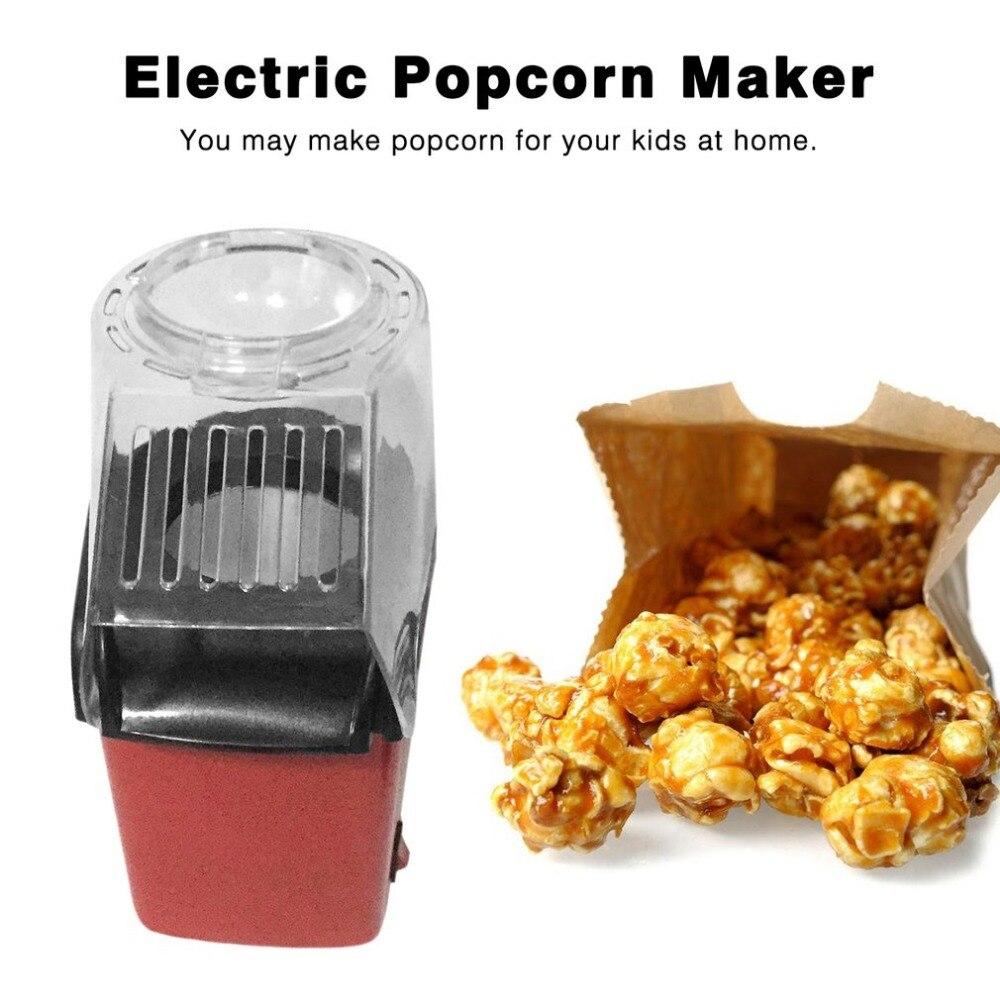 Mini Elektrische Huishoudelijke Popcorn Maker Machine Automatische Rode Corn Popper Natuurlijke Popcorn Thuisgebruik Huishoudeli