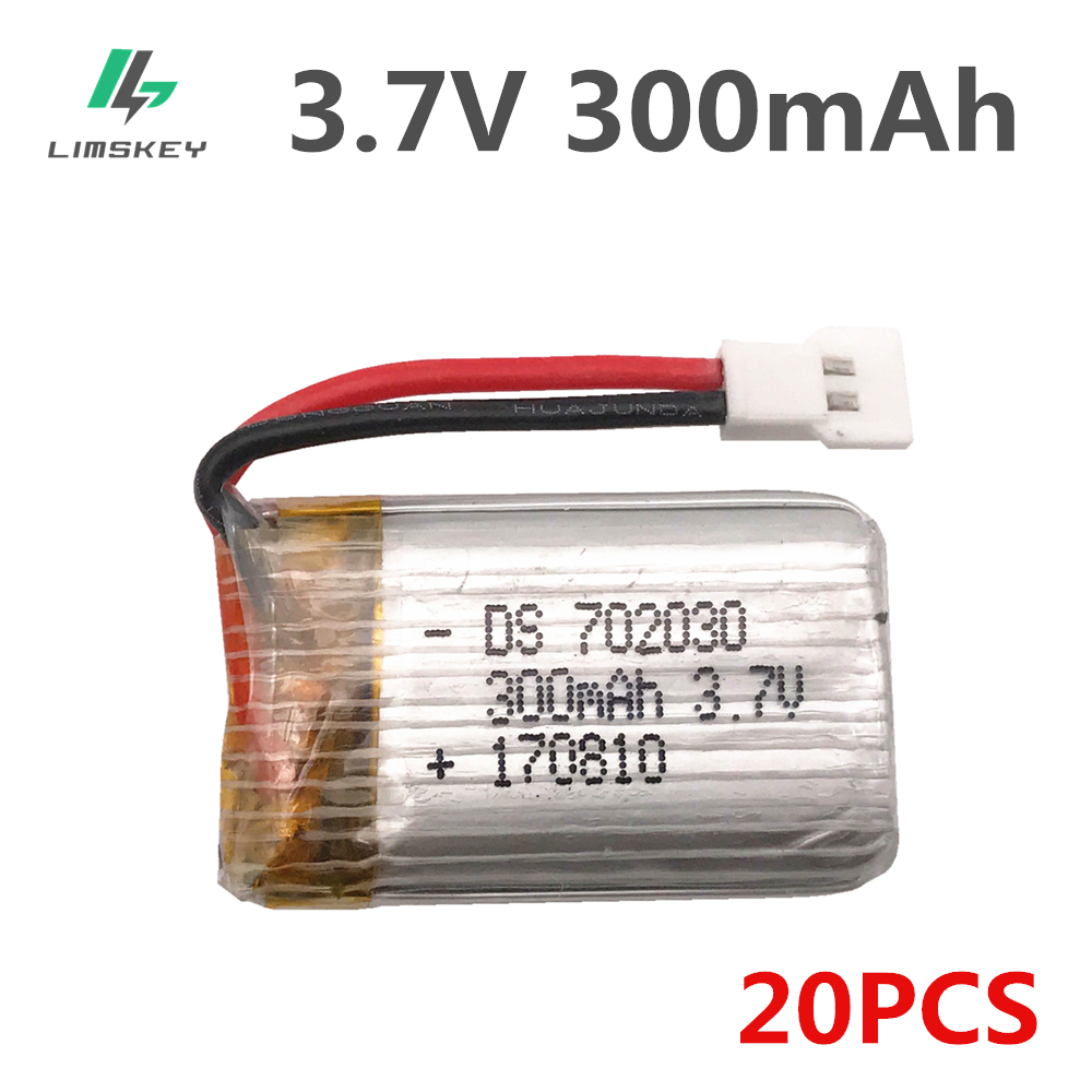 20pcs/lot 3.7 V <font><b>300mAh</b></font> <font><b>Lipo</b></font> <font><b>battery</b></font> For Eachine E55 FQ777 FQ17W DiFeida DFD F180 FY530 Aircraft 3.7 V 300 MAH 20C <font><b>Lipo</b></font> <font><b>battery</b></font> image