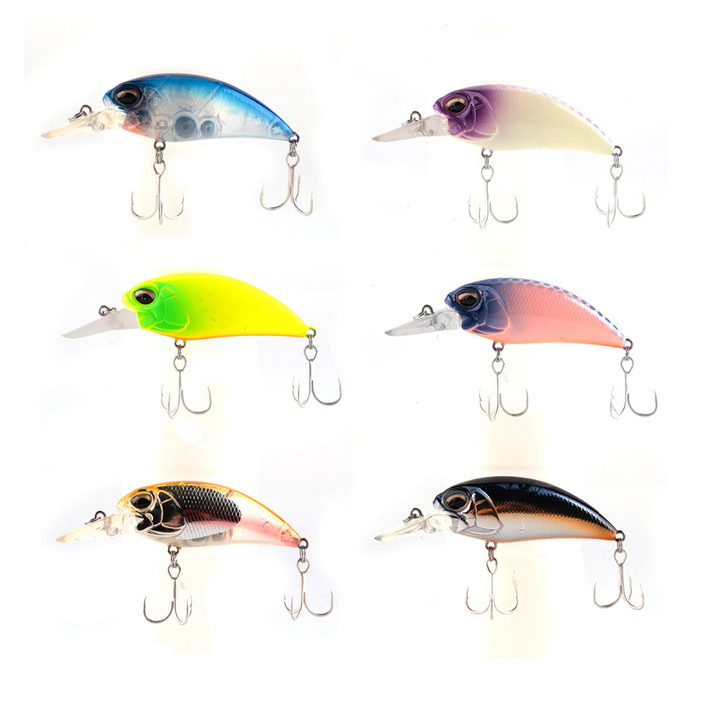 3D eye swimbait fishing tackle with two hooks 6 colors per set 60mm 15g Fishing hard lure bait minnow artificial lures crankbait tsurinoya fishing lure minnow hard bait swimbait mini fish lures crankbait fishing tackle with 2 hook 42mm 3d eyes 10 colors set