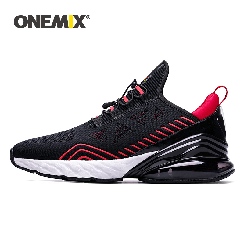 ONEMIX Sneakers 2019 Men Running Shoes Sports Cushioning Breathable Knitted Mesh Women Outdoor Athletic Shoes Original