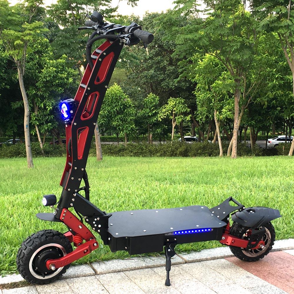 FLJ gran rueda Scooter Eléctrico para adultos con 3200 W de potencia eléctrica e scooter off road neumático gordo kick Scooter