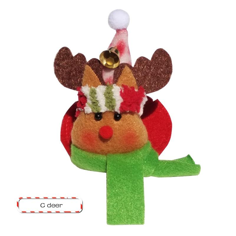 1 STKS Kerstfeest Ronde Onderzetters Kerstman Cup Mat Kerst Wijnfles - Feestversiering en feestartikelen - Foto 4