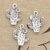 6 шт Подвески desert Цветок кактуса 20x15 мм Античная Посеребренная Подвески Создание DIY тибетское серебро ручной работы комплектующие Ювелирных изделий