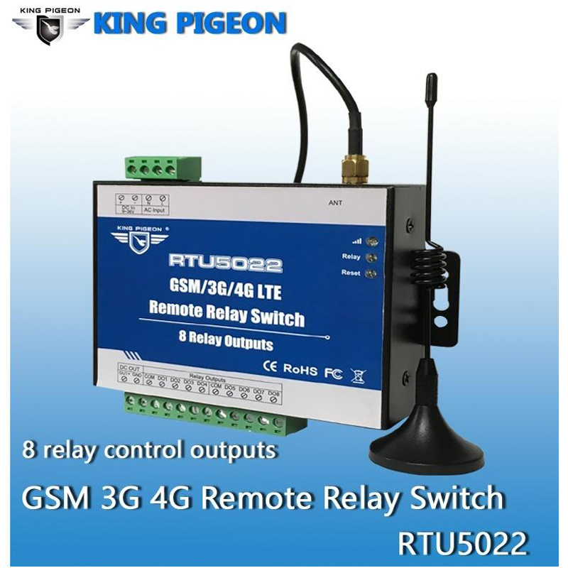 GSM Switch 3G 4G Remote Switches SMS Controller with 8 Relay Output Supports SMS APP Timer and Web Server Setting RTU5022 - 2