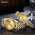 WLISTH Brand Luxury Couple watch Full Stainless Steel Quartz wristwatches Waterproof Lovers'watches Rrelogio masculino 2016
