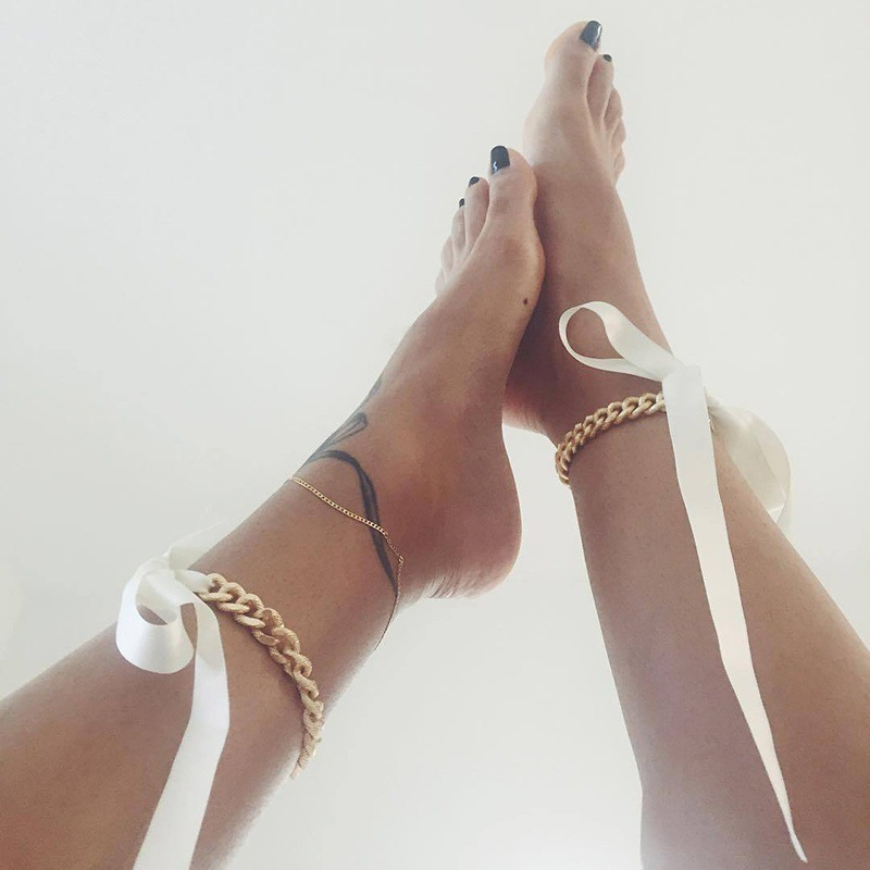 bracelet bohemian in chain big vintage metal for new jewelry silver women coin free shipping from anklets item ankle foot wave ankles men anklet adjustable dangle