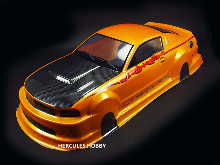 190MM Painted PVC Body Shell 020GR For 1//10 RC Model On Road Drift Racing Car