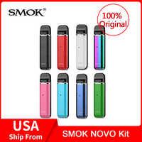 Original SMOK Novo Kit com Bateria de 450mAh com Novo 2ml Para O cigarro Eletrônico smok novo pod Pod kit vape