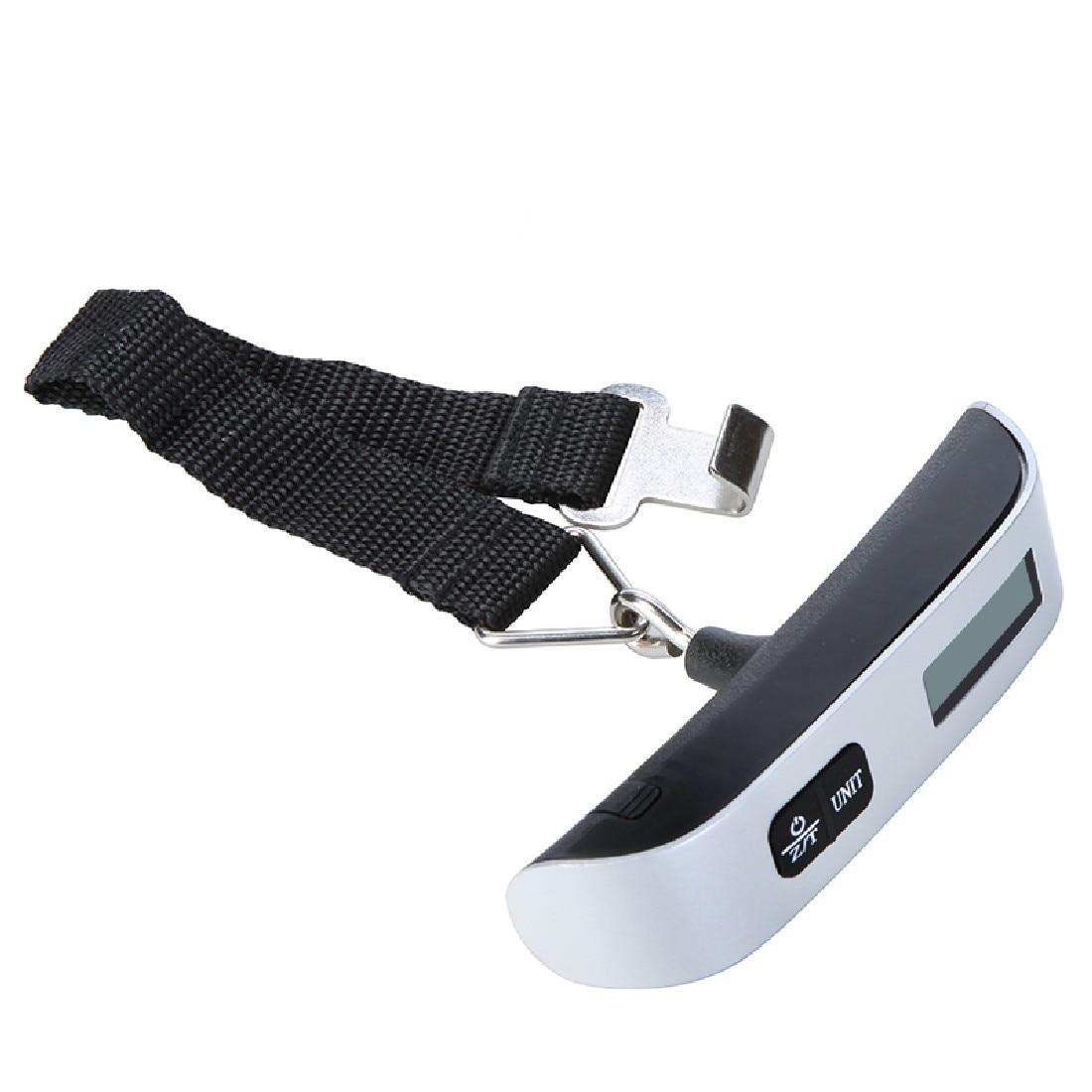 50 kg/110lb Cintura Gancio Bilancia LCD Elettronico Digitale Bilancia Per I Viaggi Valigia Bagaglio Appeso Bilancia s Peso di Mano held