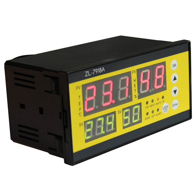 Zl-7918A,100-240Vac,Multifunction Automatic Incubator,Incubator Controller,Temperature Humidity For Incubator,Xm-18