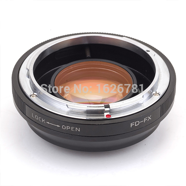 Pixco Focal Reducer Speed Booster Lens Adapter Suit For Canon FD Lens to Fujifilm FX CameraX-Pro1 X-E1 X-E2 X-M1 X-A1 X-T1