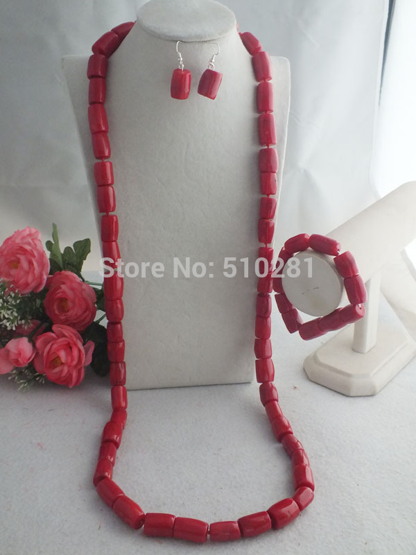 Nigerian Party Beads Necklace For Men Coral jewelry set 48 inches LK 2348