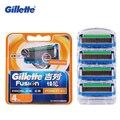 Подлинная Flexball Gillette Fusion Proglide Мощность Бритвенные Лезвия Для Мужчин Бритья Лезвий Бритвы Уход За Лицом С 4 Лезвия