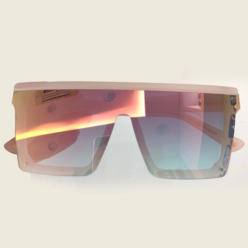 Luxury Brand Square Sunglasses Big Size Rimless Frame Sun Glasses UV400 Glasses Lens Shades for Women