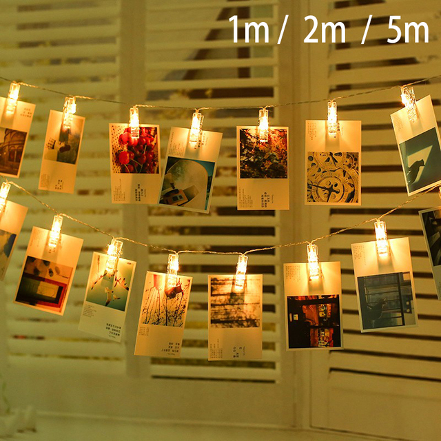 1030 led photo clips string light christmas battery operated fairly light clips for photo