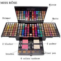 MISS ROSE New Fashion Professional makeup Eye shadow 180 Colors combination Eyeshadow Palette Cosmetics Set