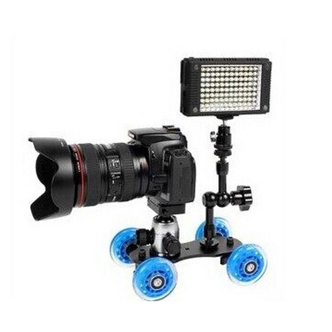 Centechia estabilizador steadicam de cuatro ruedas para cámara de vídeo DSLR para Canon Nikon Sony gopro héroe teléfono DSLR DV