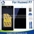 1 unids original para huawei ascend p7 pantalla lcd con pantalla táctil digitalizador asamblea + herramientas