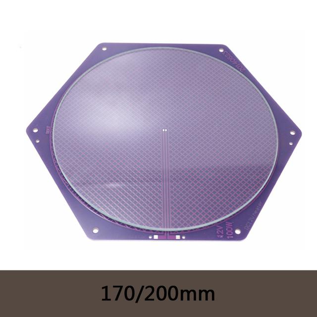 Kossel Delta Rostock Semillero PCB 12 V 120 w 170/200mm Púrpura Seemecnc MK2A Reprap/2B + 200*3mm Placa Redonda De Vidrio Borosilicato