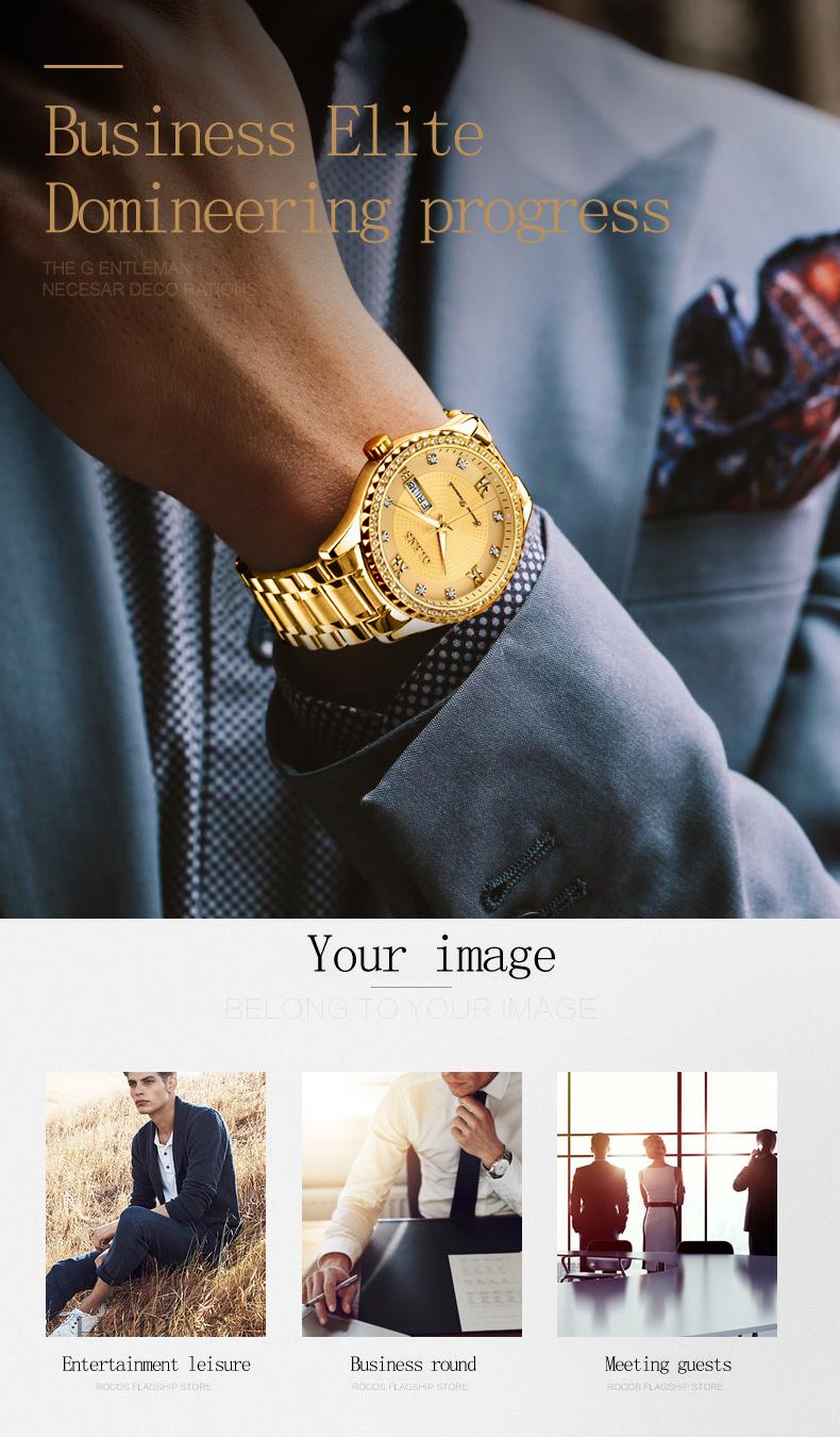 2018 OLEVS Luxury Brand Watch Men's Analog Quartz Auto Date Watches Man Waterproof Clock Men Sport Stainless Steel Wrist Watch 16