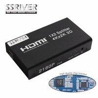 SSRIVER 4 K HDMI Splitter 1x2 2160 P 1080 p HDMI amplificador Switch1 en 2 Adaptador convertidor HDMI para HDTV DVD PS3/PS4