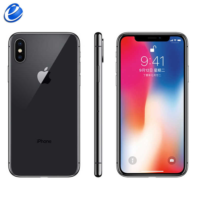 Original apple iphone x face id 5.8 polegada hexa núcleo ios a11 3 gb ram 64 gb/256 gb rom 12mp câmera traseira dupla 4g lte desbloquear iphone x