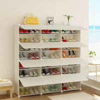 Simple Shoe Box Modern Shoes Storage Rack Multi layer Assembly Economical Dust proof Household Hall Cabinet Space Dotomy