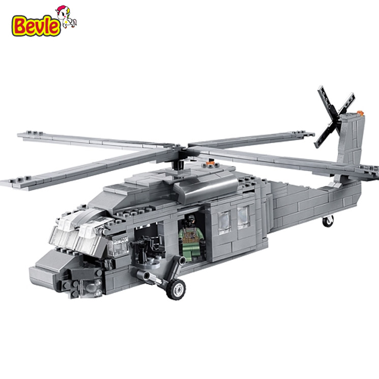 Decool 2114 UH-60 Black Hawk Commandos Helicopter Sheng Yuan  Building Block Toys Children Gifts