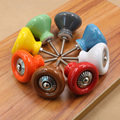 Fashion Ceramic Alloy Door Knob Home Kitchen Cabinet Drawer Handles Wardrobe Closet Door Knob Pull 8 Colors