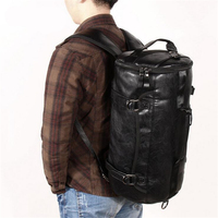 Sport Bag Gym Bag Fitness 3 Functions Backpack Shoulder Bags Handbag Soft PU Leather Waterproof Men Travel Duffel Package Tote