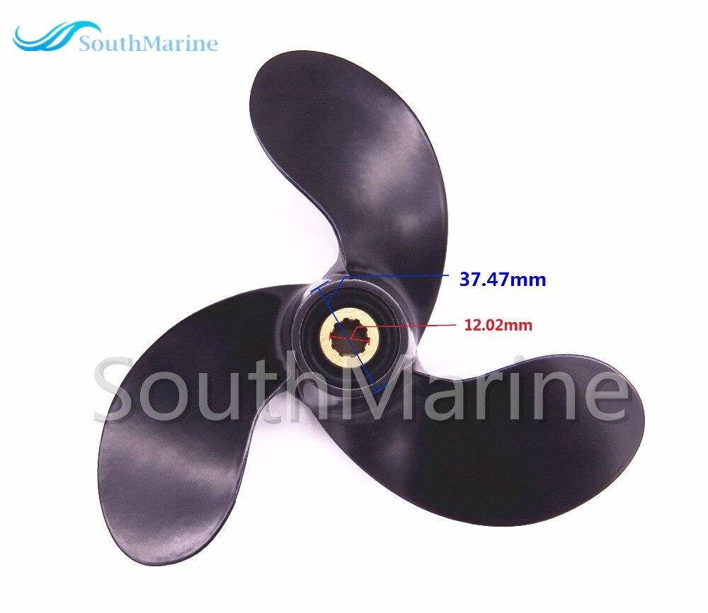 Aluminum Alloy Propeller For Suzuki 2.5hp DF2.5 Outboard Motors A520 7 3/8 X 5 3/8 58110-97JA0-019,10 Splines