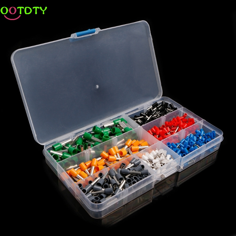 600Pcs/Set  Insulated Cord End Terminal Bootlace Cooper Ferrules Kit Set Wire  828 Promotion 800pcs cable bootlace copper ferrules kit set wire electrical crimp connector insulated cord pin end terminal hand repair kit