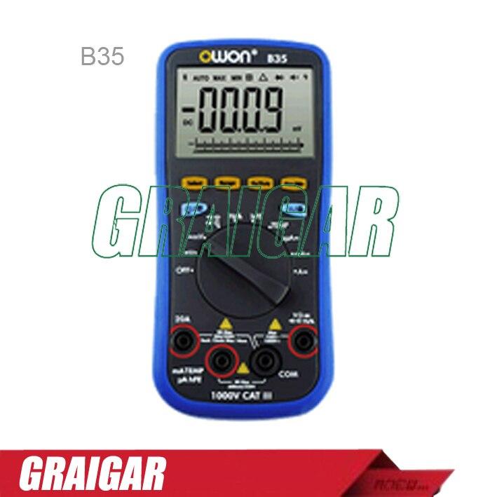 Здесь можно купить   B35 OWON DM Series Digital Multimeter multi-connection supported via mobile function as 3 in 1,support via smart power-off Строительство и Недвижимость